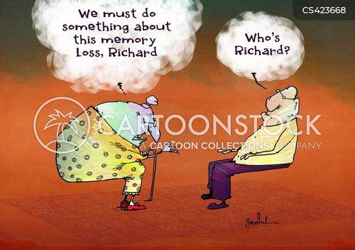 memory problems cartoon