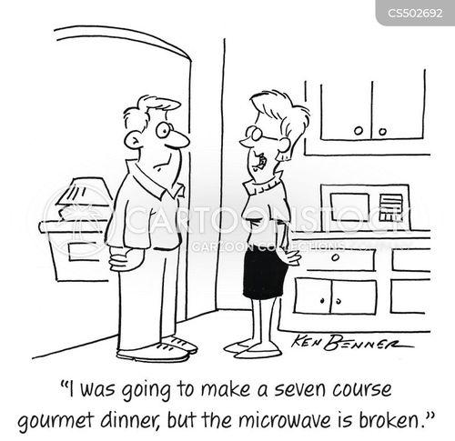 gourmet meal cartoon