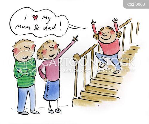 happy families cartoon