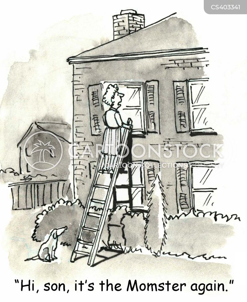 apron string cartoon