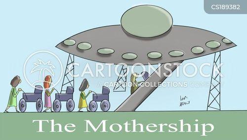 mother ship cartoon