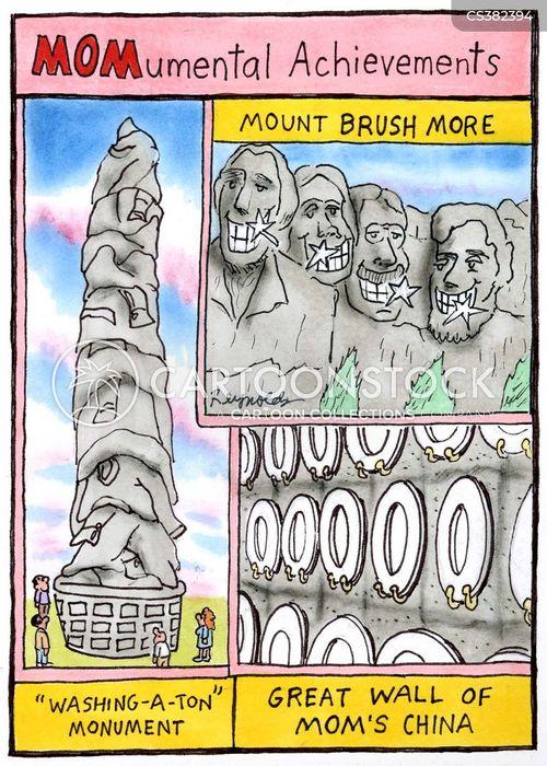 washington monument cartoon