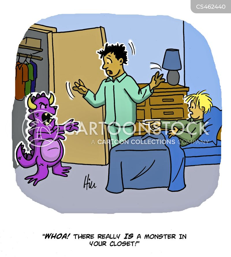 monsters under the bed cartoon