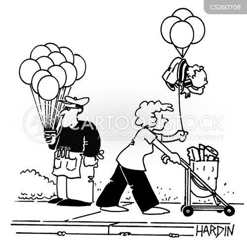 helium balloon cartoon