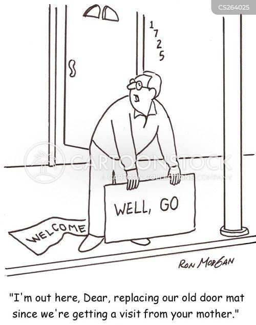 door mat cartoon
