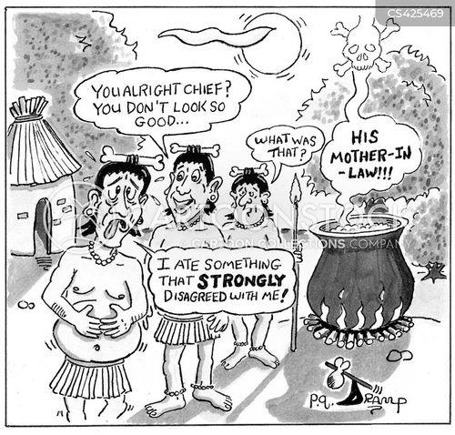 digestive problem cartoon