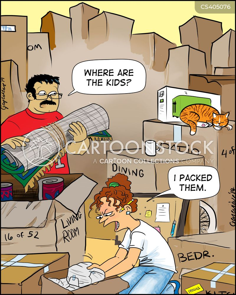 Packing Up Cartoons and Comics - funny pictures from CartoonStock