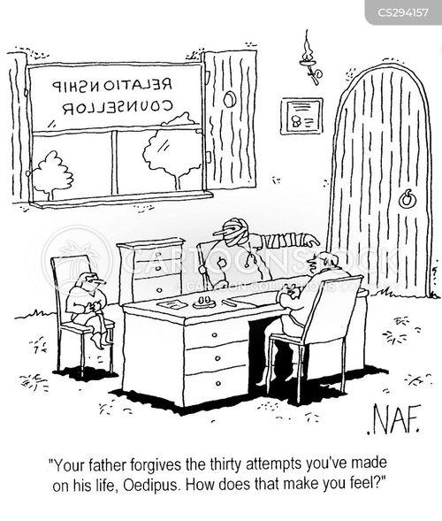 patricide cartoon