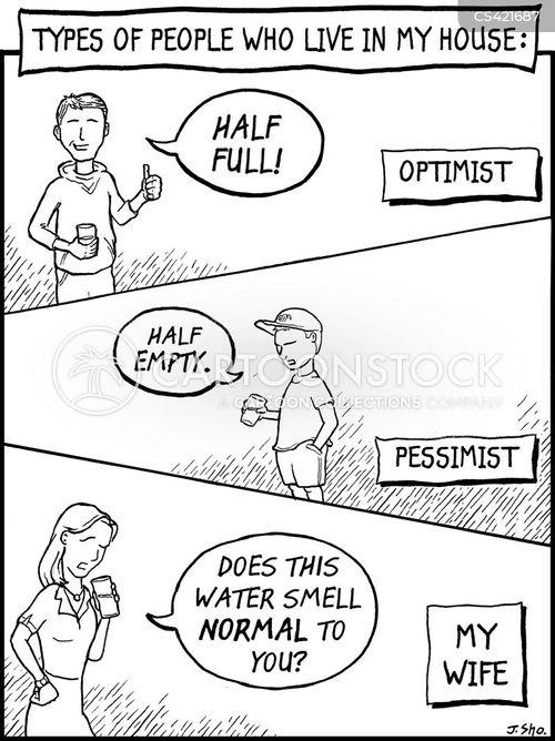 half empty cartoon
