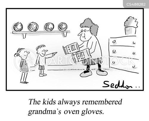 oven gloves cartoon