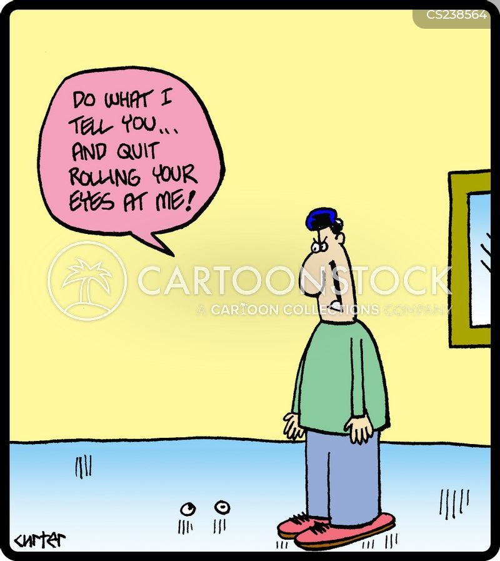 telling offs cartoon