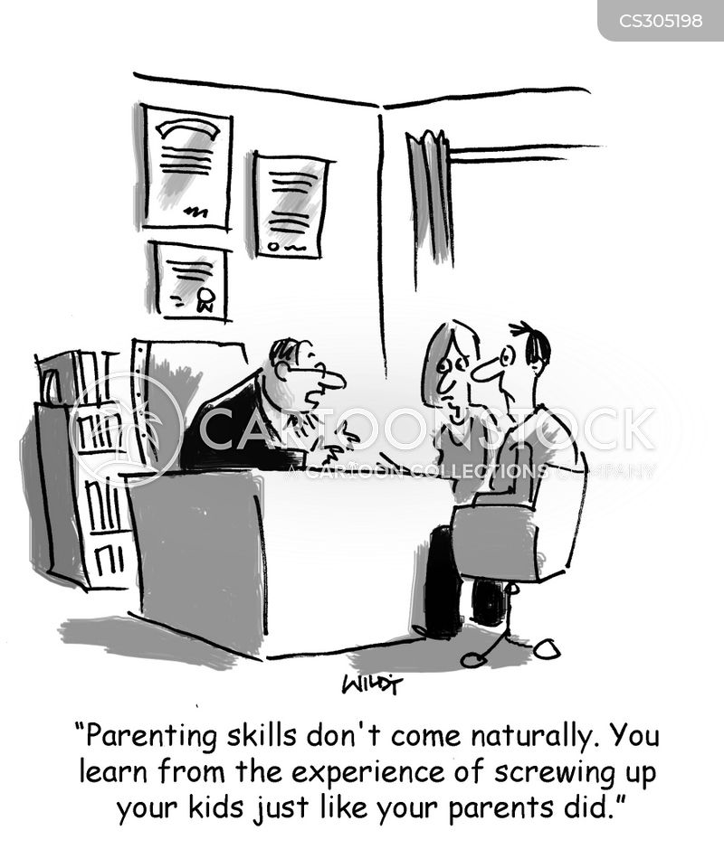 parenting skill cartoon