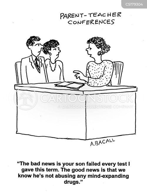 parent teacher conference cartoon