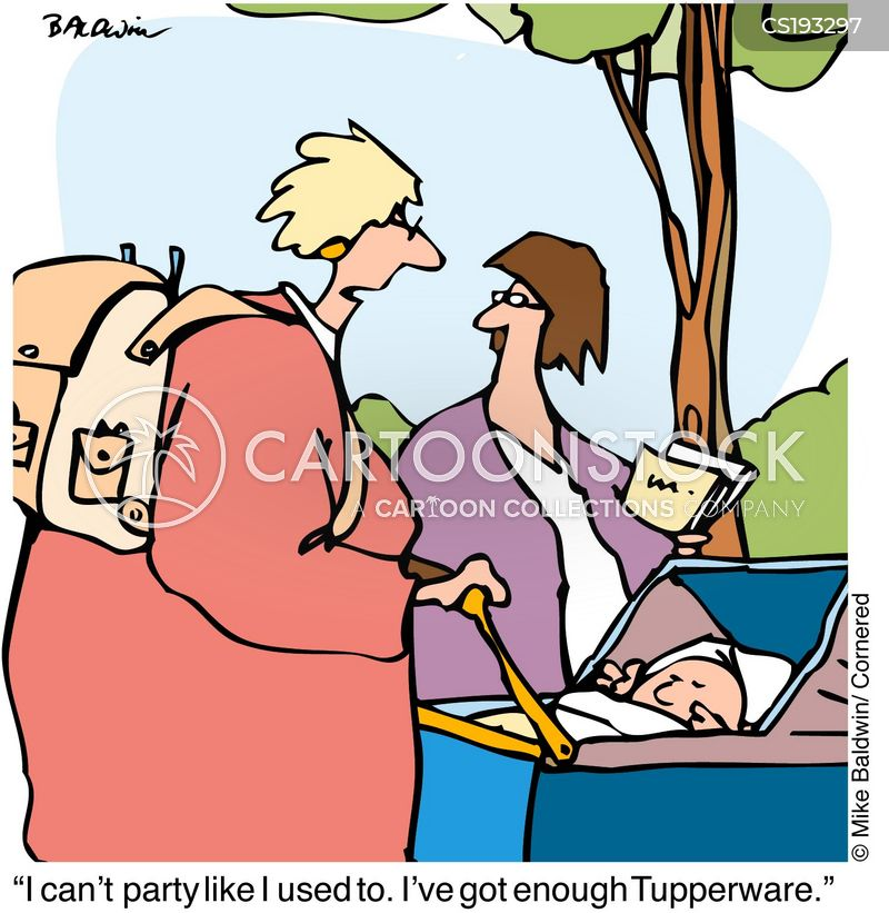 tupperware party cartoon