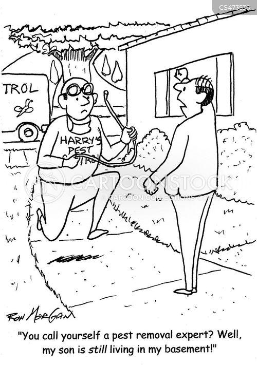 pest removal cartoon