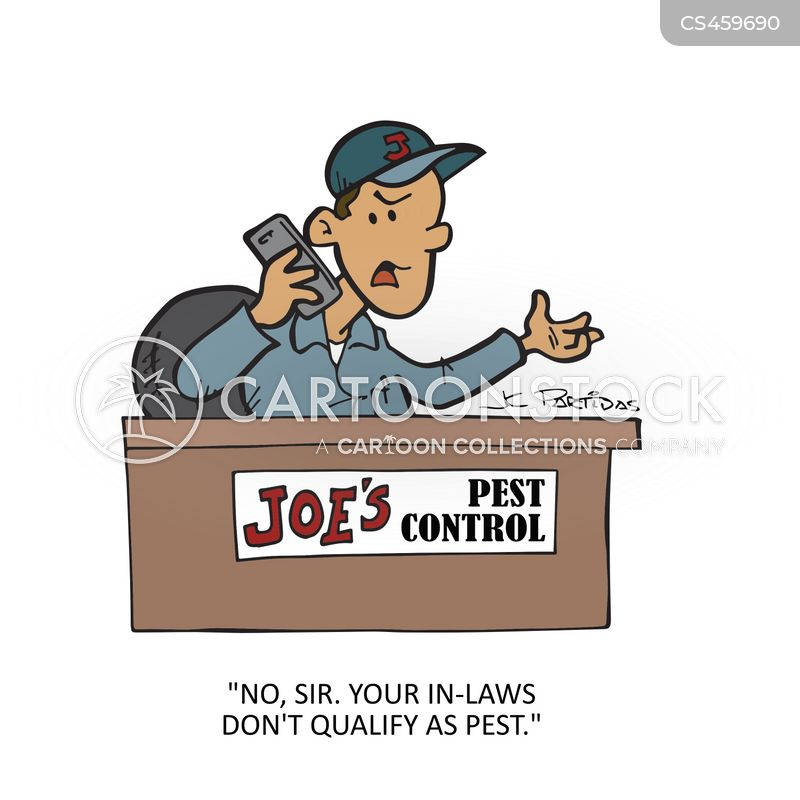 pest controllers cartoon