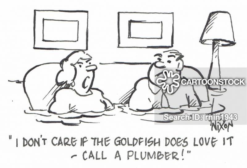 plumbing disasters cartoon
