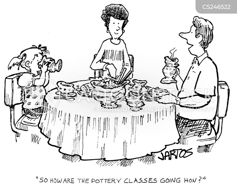 breakfast table cartoon
