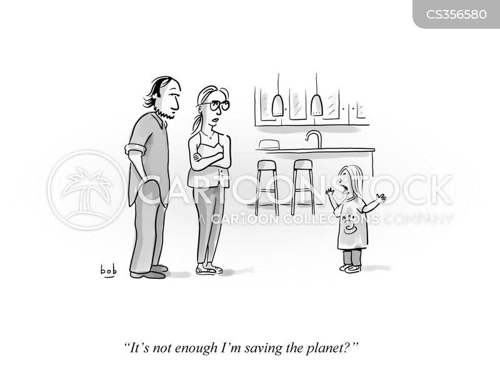 saving the planet cartoon