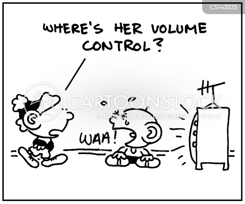 volume control cartoon