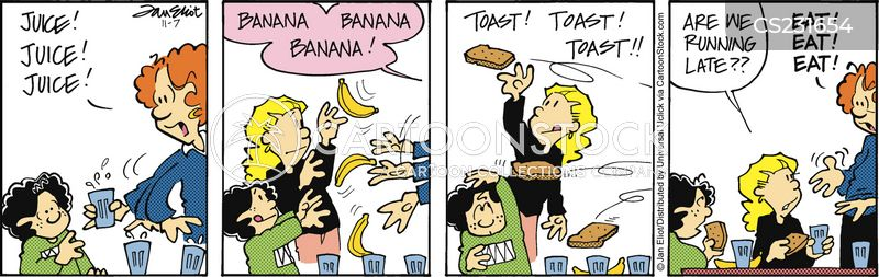 breakfast time cartoon