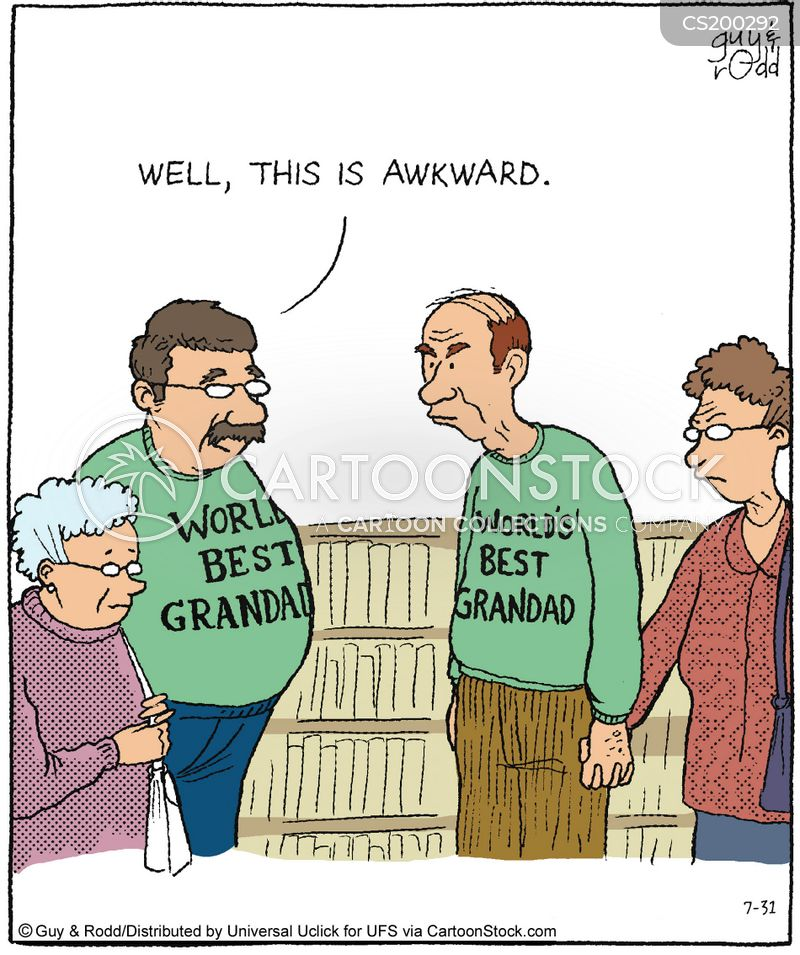 awkward situation cartoon