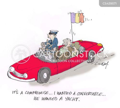 convertible cars cartoon