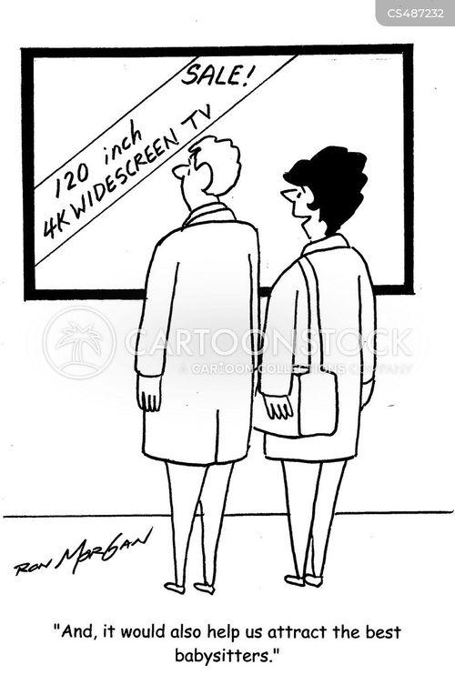 widescreen televisions cartoon
