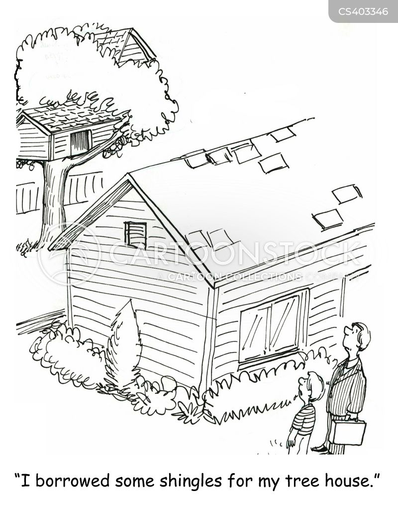 shingle cartoon