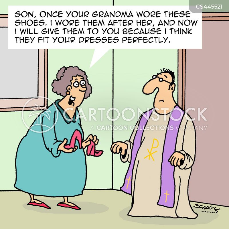cross-dressers cartoon