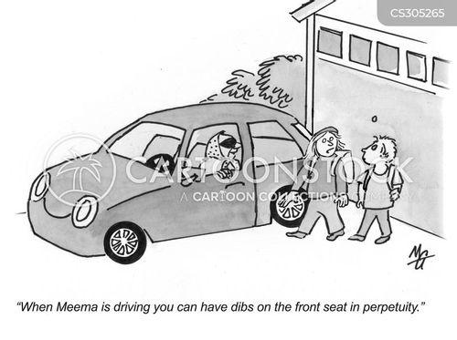 front seat cartoon