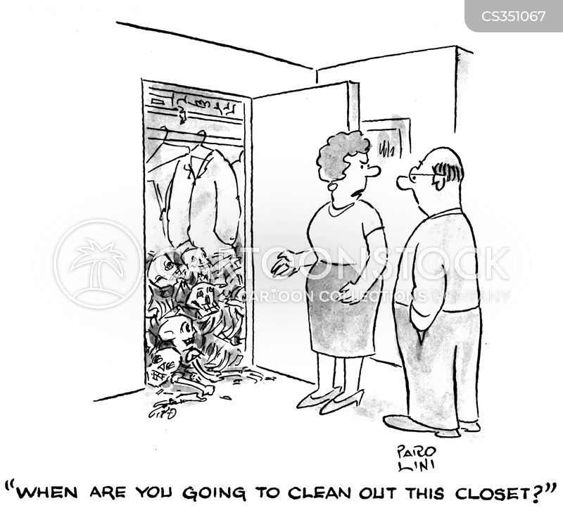 Skeletons In The Closet Cartoons and Comics - funny pictures