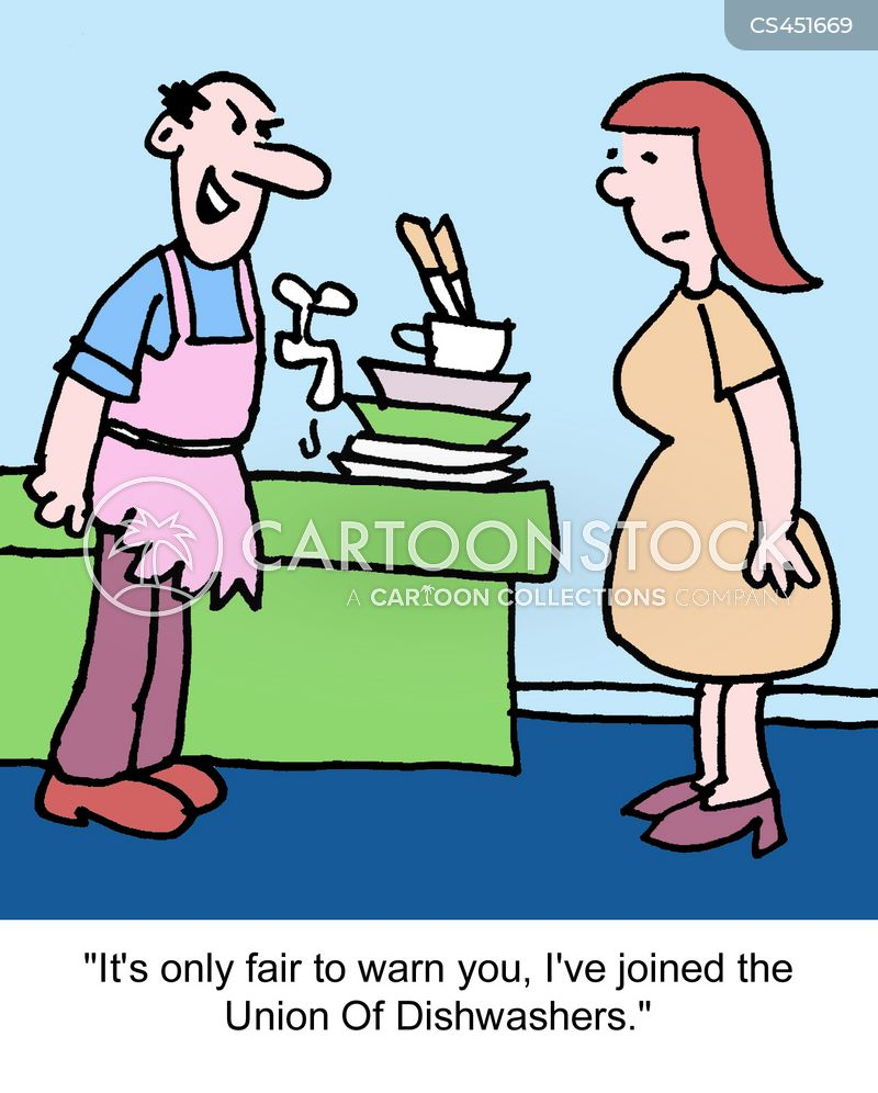 washing dishes cartoons and comics funny pictures from