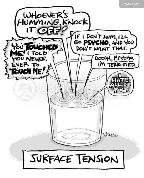 surface tension cartoon