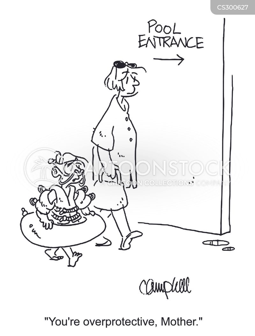 over protective cartoon