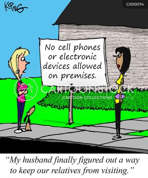 phone addictions cartoon