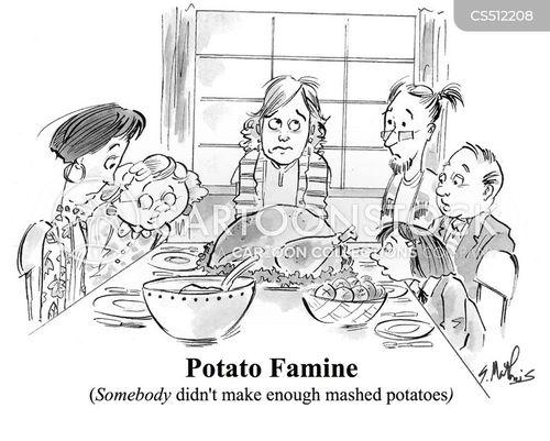 potato famine cartoon