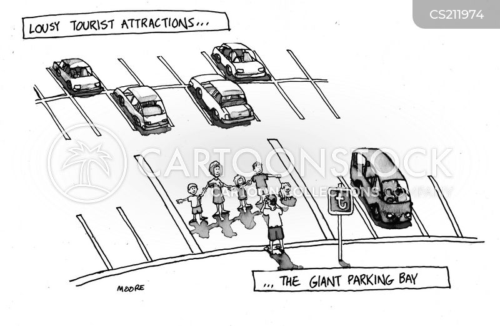 car spaces cartoon