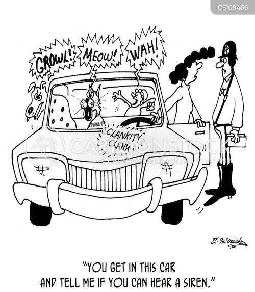 police siren cartoon