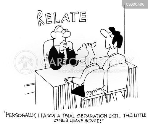 trial separation cartoon