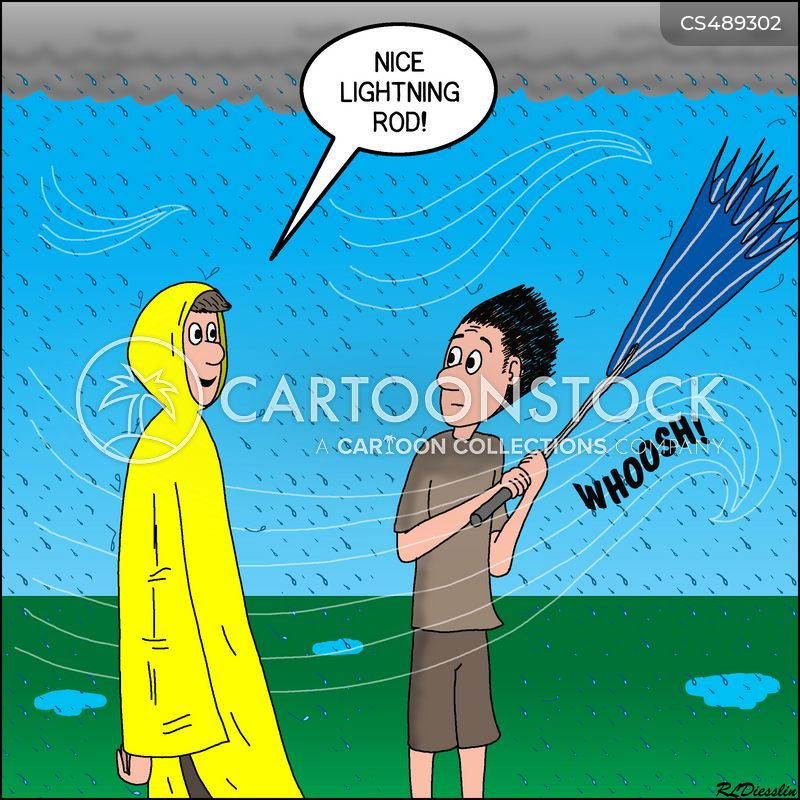 lightning rods cartoon