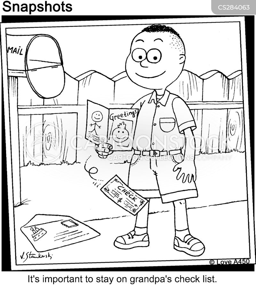 check list cartoon