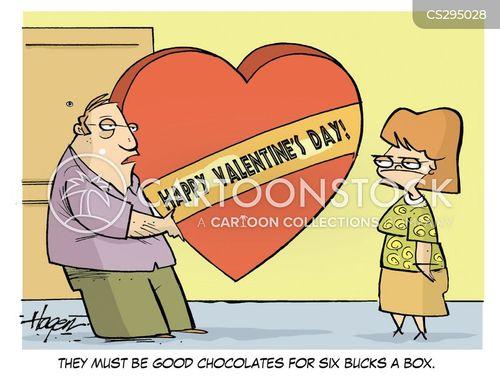 chocolate boxes cartoon