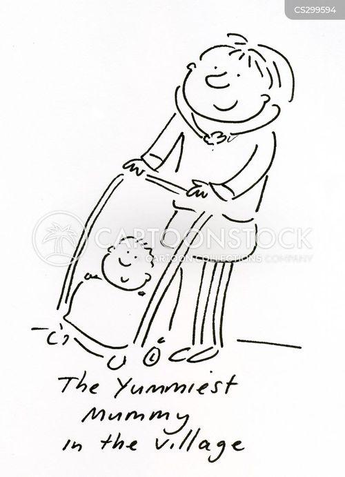 young mums cartoon