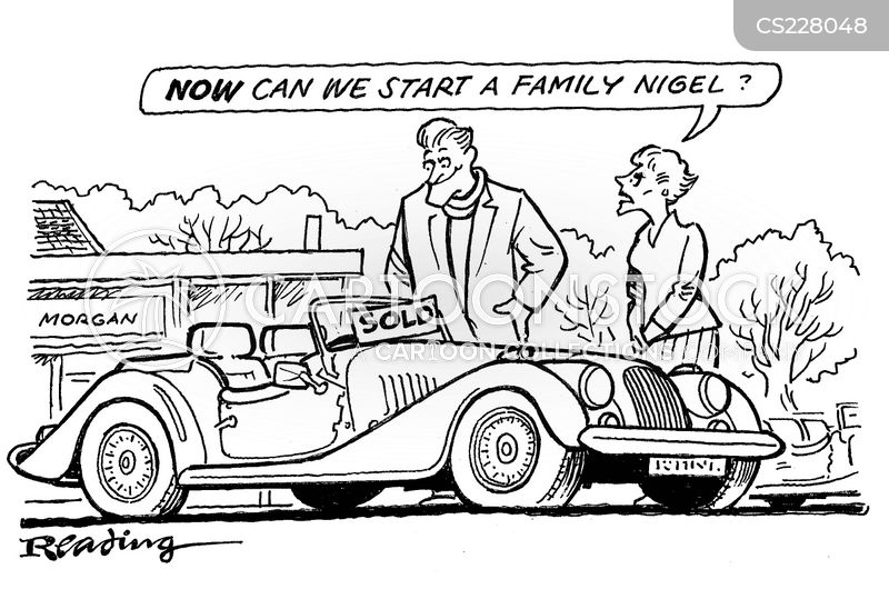 Sold Cars Cartoons And Comics Funny Pictures From CartoonStock - Selling classic cars