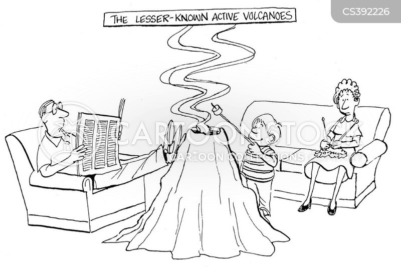 volcanologists cartoon