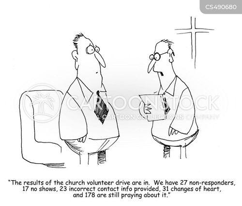 charity workers cartoon