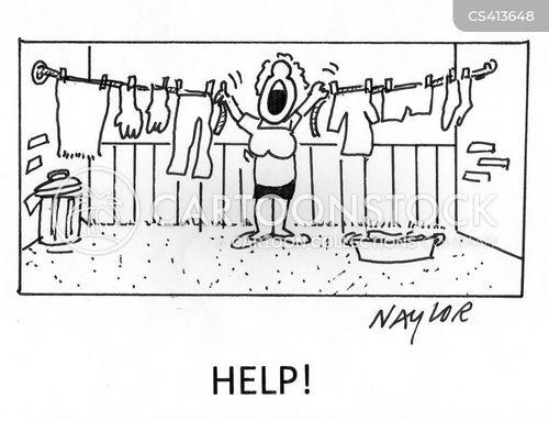 laundry line cartoon