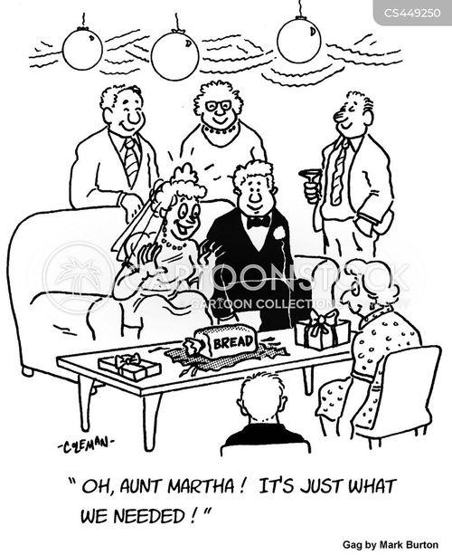 wedding registry cartoon