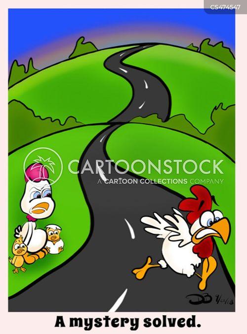 chicken joke cartoon